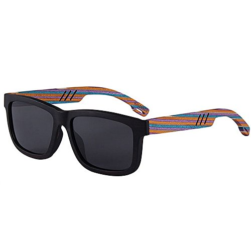 a Sol de Tiras polarizadas Playa Gafas Sol Madera Personalidad de conducción Gafas Protección de Mano la de Tonos de Alta Calidad Gafas de UV Sol de de de de Moda Proteccion Sol Gafas Hechas Color de vAE6H