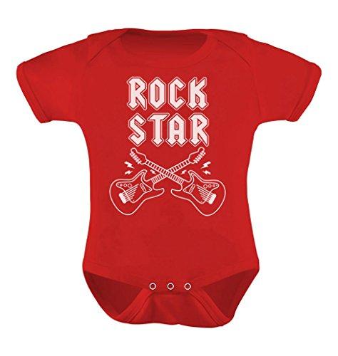 Rock Star Unisex Infant Grow Vest Boy Girl Baby Bodysuit 6M Red (One Replica Piece)