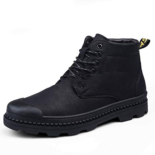 Boots Jump Toe Steel (GanQuan2018 Men's Combat Boots Steel Toe Lace-Up Fashion Warm Martin Boot)