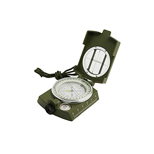 Lvcky 1Pc Outdoor Sighting Military Compass Direction Luminous Lensatic Compass Fluorescent for Camping Hiking Hunting( )