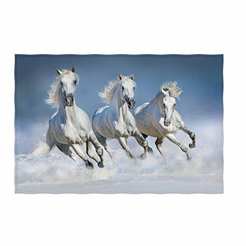 kksme Group of Beautiful Arabian Horses Pattern Soft Warm Blanket for Bed Couch All Season Unisex Men Women Boys Girls 58x80 inche Lightweight Throw Blanket by kksme
