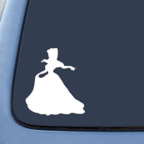 Cinderella Decal Vinyl Sticker|Cars Trucks Vans Walls Laptop| WHITE |5.5 in|CCI473
