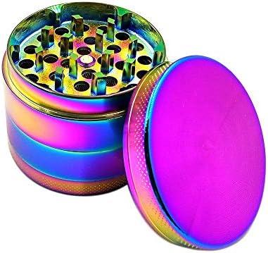 ReadyUp Vier Schichten Zinklegierung Tabak Grinder Regenbogen Farbe Metall Zigarette Gewürz Crusher Rauchen Zubehör Grinder