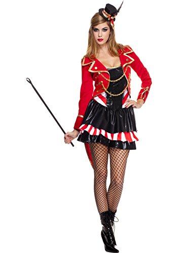 MUSIC LEGS Women's Ravishing Ring Mistress, Red/Black, Small/Medium (Ring Mistress Halloween Costume)
