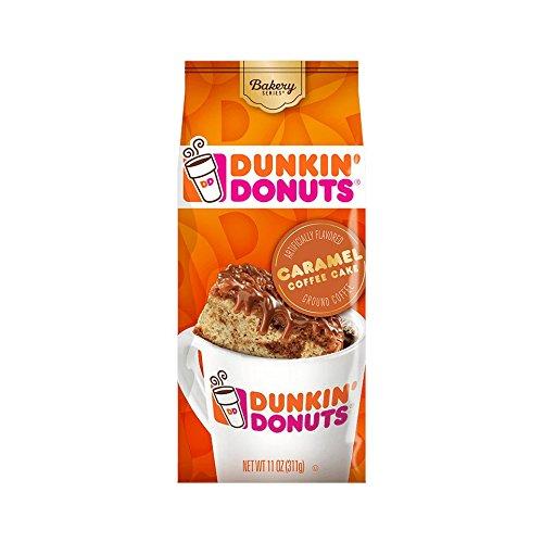 Dunkin' Donuts Bakery Series Coffee, Caramel Coffee Cake Flavored Coffee, 11 Ounce