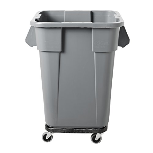 Rubbermaid Commercial Brute Trash Can Dolly Square Black