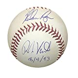 Nolan Ryan Robin Ventura Dual Autographed MLB Signed Baseball With Fight Date Beckett TRISTAR COA With UV Display Case
