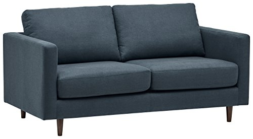 "Rivet Revolve Modern Sofa Bed, 70""W, Denim"