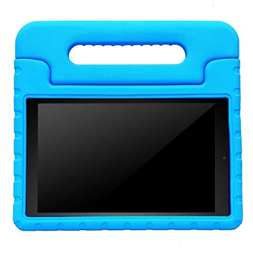 AVAWO Shock Proof Case for Fire HD 8 2017/2018 Tablet - Kids Shockproof Convertible Handle Light Weight Protective Stand Case for Fire HD 8-inch (7th/8th Generation, 2017/2018 Release), Blue
