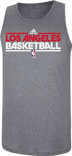 Los Angeles Clippers Slim Fit Pre-Game Clima Fabric Tank by Adidas (Large)