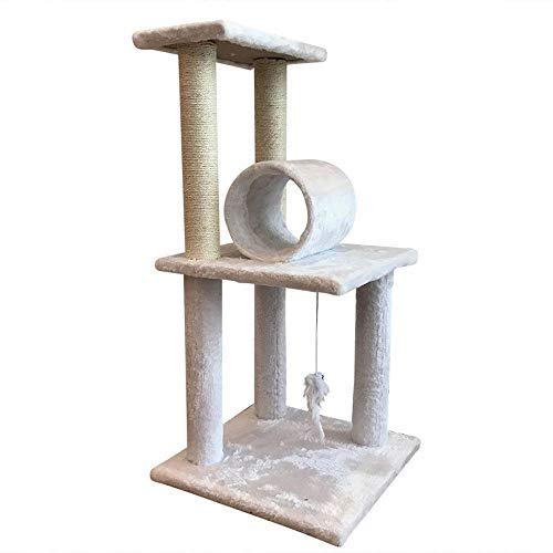 Pet fornisce Deluxe Multi Level Cat Tree, Cat Entertainment Center Pet Furniture 65533; Tree Tower Hamock, Condominium, Scrat ng Post Activity Centre Pet Toy with Hanging Ball Toys