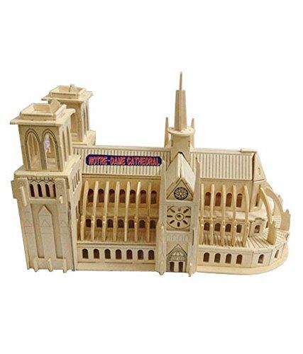 Notre Dame DE Paris Three-Dimensional Building Of Manual Assembly Model