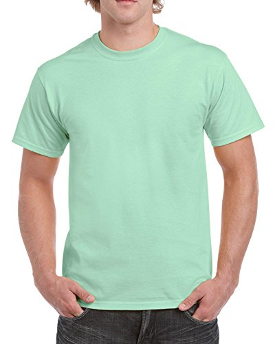 - Gildan Men's Ultra Cotton Tee, Mint Green, X-Large