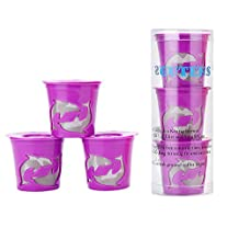 Gutens Reusable Coffee Filter Coffee Cup for Keurig 2.0 - K300, K400, K500 Series and All Keurig 1.0 Series - 3 pcs Purple