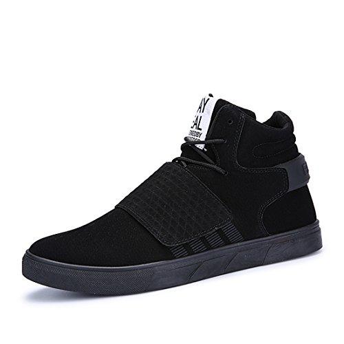 Xiafen Heren Hoge Top Met Enkelband Outdoor Schoenen Comfortabele Zachte Mode Sneakers Schoenen Zwart