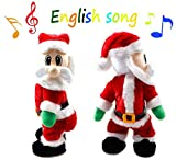 Burst Twisted Wiggle Hip Twerking Shaking Hips Santa Claus Singing Electric Toy for Kids English Song