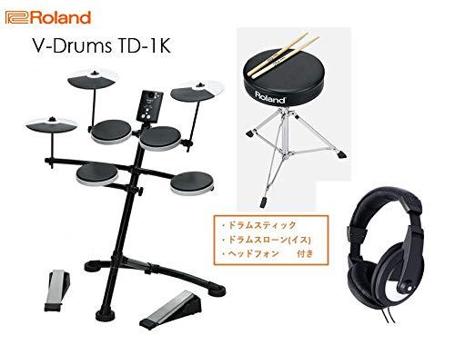 Roland ローランド 電子ドラム TD-1K 【イススティックヘッドホン付き/スターターセット】   B07PQRZXC1