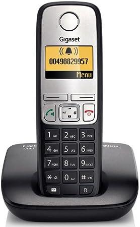 Gigaset Siemens A400 - Teléfono fijos inalámbricos DECT/GAP con contestador, color negro y plateado [Importado de Francia]: Amazon.es: Electrónica