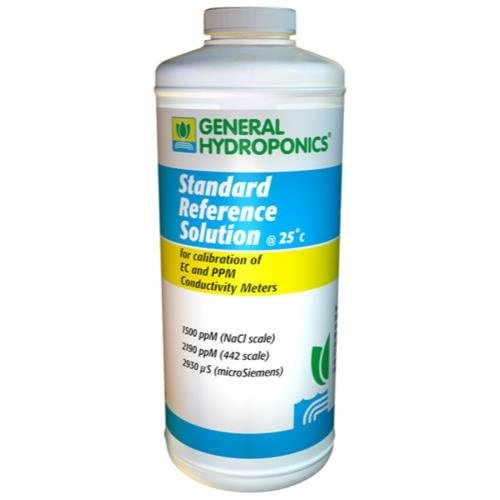 General Hydroponics 1500 PPM Calibration Solution for Gardening, - Calibration Solution