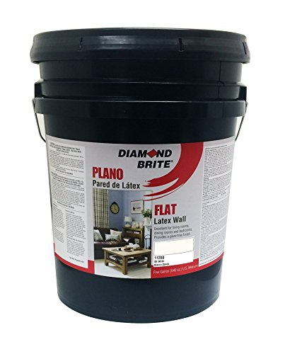 Diamond Brite Paint 11200 5-Gallon Flat Latex Paint Off White (5 Gallon Flat)