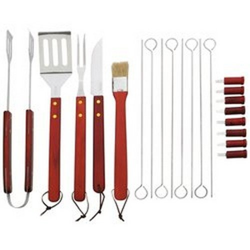 22 pc Barbeque Tool Set in Red Zipper Case -