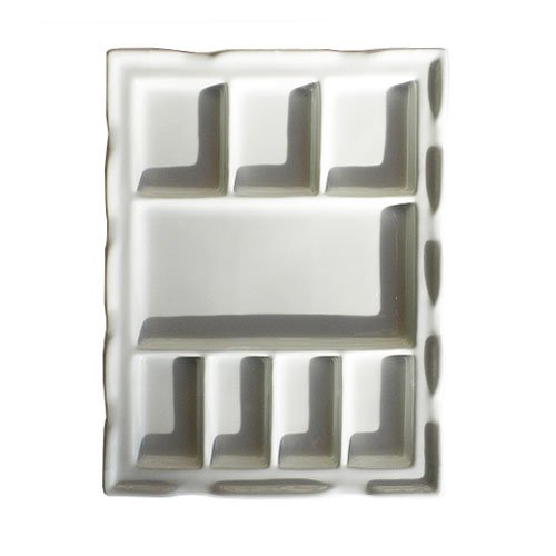 Paragon Rectangular Porcelain Palette for Sumi Painting, 7.5 X 9.5 inches, White (PIA-ABA-PLTR5)