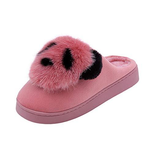 Intérieur Printemps Hommes Femmes Animal Merde Bottes Mignon Peluche Emoji Et Fond Maison Pantoufles Furry Rose Drôle Doux Chaud Chaussures qxCw1RxS