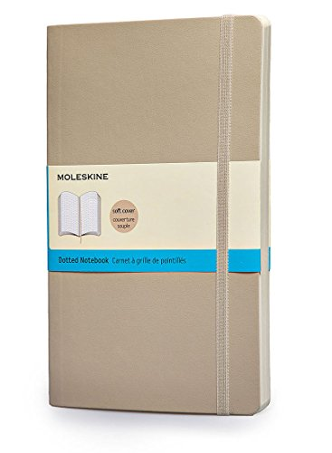 """Moleskine Classic Notebook, Soft Cover, Large (5"""" x 8.25"""") Dotted, Khaki Beige"""