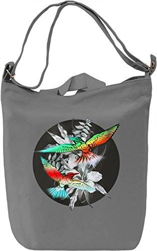 Tropical Birds Borsa Giornaliera Canvas Canvas Day Bag| 100% Premium Cotton Canvas| DTG Printing|