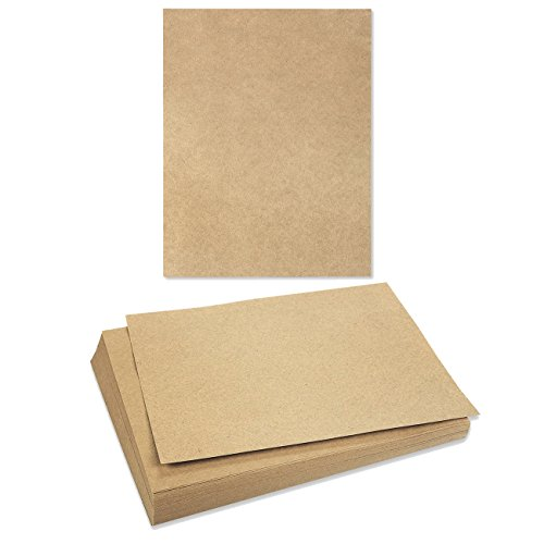 96-Sheet Brown Kraft Paper - Natural Kraft Paper - Letter Size - 120 GSM - 8.5 x 11 - Colored Paper Kraft