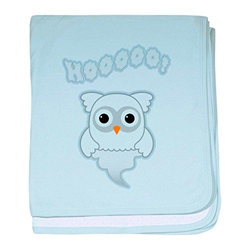 Truly Teague Baby Blanket Spooky Little Ghost Owl - Sky Blue by Truly Teague