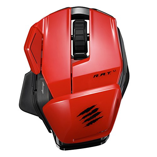 Mad Catz Office RAT m Wireless Bluetooth Optical Mouse for PC and Mobile - Red (Madcatz Rats)
