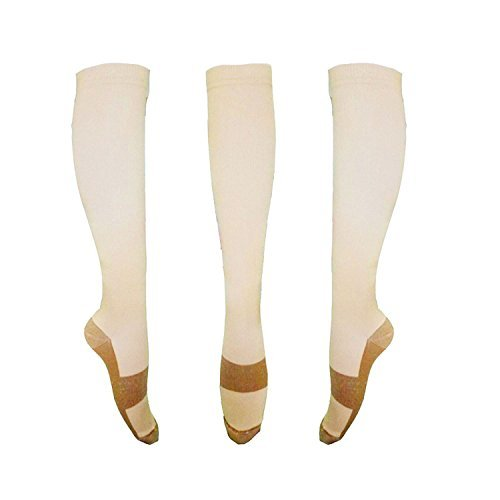 Copper Knee High Compression Support Socks For Women and Men