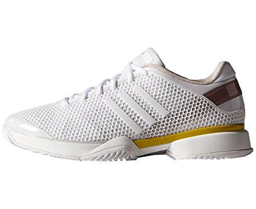 adidas by Stella McCartney Barricade Zapatillas de tenis para mujer, Blanco/Amarillo, 41 1/3: Amazon.es: Zapatos y complementos