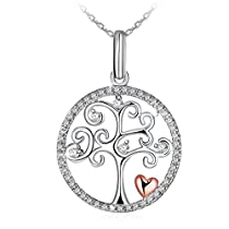 Necklace, Sterling Silver Necklace J.Rosée Fine Jewelry for Women Tree of Life the Best Gift for Mother Wife Girlfriend Daughter, Mothers Day Gift with Exquisite Package, 18+ 2 Extender