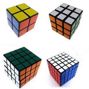 Shengshou Black Cube Puzzle Bundle Pack,2x2x2,3x3x3,4x4x4,5x5x5 Set, Speed Cube Collection
