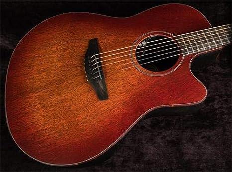 Ovation American SX Series 6 cuerdas de guitarra acústica eléctrica, derecha, quemador de cascada