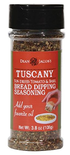 4 Seasoning (Dean Jacob's Tuscany Bread Dipping Blend, 3.8 Oz Stacking Jar)