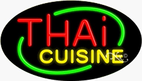 17x30x3 inches Thai Cuisine Flashing ON/OFF NEON Advertising Window Sign by Light Master