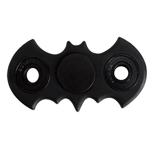 Bat Shape Fidget Spinner Toy Stress Reducer Perfect For Anxiety Stress-Relief Focus Adult & Children-Black