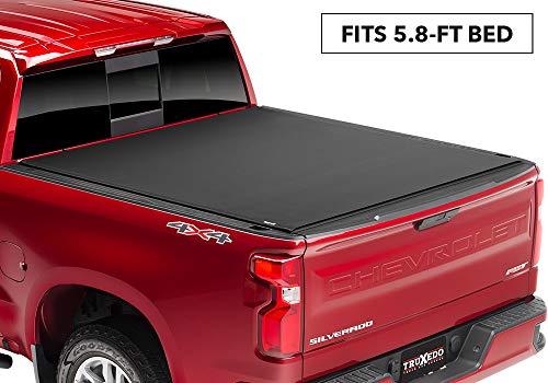 TruXedo Sentry CT Hard Rolling Truck Bed Tonneau Cover | 1572416 | fits 2019 GMC Sierra 1500 & Chevrolet Silverado 1500 New Body Style 5'8