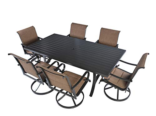 pc Grand Regent Swivel Rocking Sling Patio Dining Furniture Set ()
