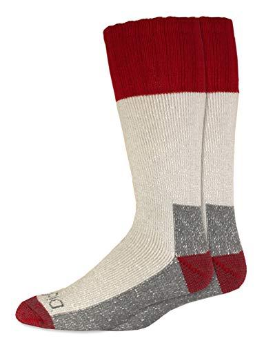 Dickies Men's 2 Pack High Bulk Acrylic Thermal Boot Crew Socks, Red, Shoe Size: ()