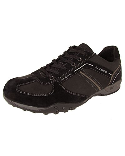 Allrounder by Mephisto Men's Tori Light Active Lace-Up,Black Suede/Ori,US 10 M