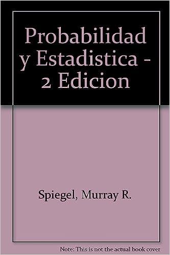Book Probabilidad y Estadistica - 2 Edicion
