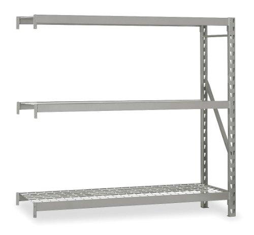 Edsal - ERX961896A - 96 x 18 x 96 16 ga. Steel Bulk Storage Rack Add-On Unit, Silver; Number of Shelves: 3