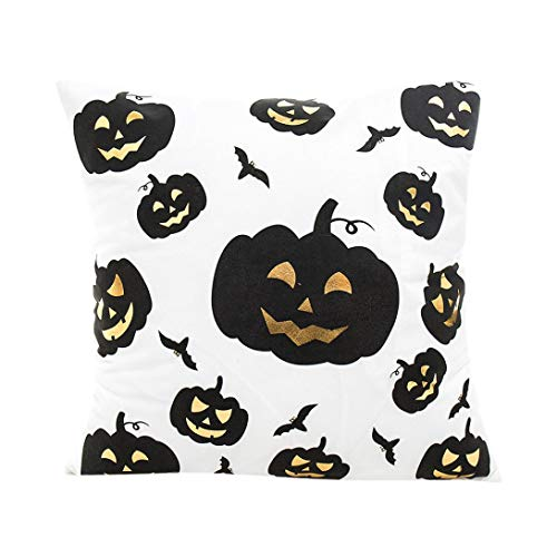 NewKelly Happy Halloween Pillow Cases Polyester Cushion Cover Home Decor (B) for $<!--$4.89-->