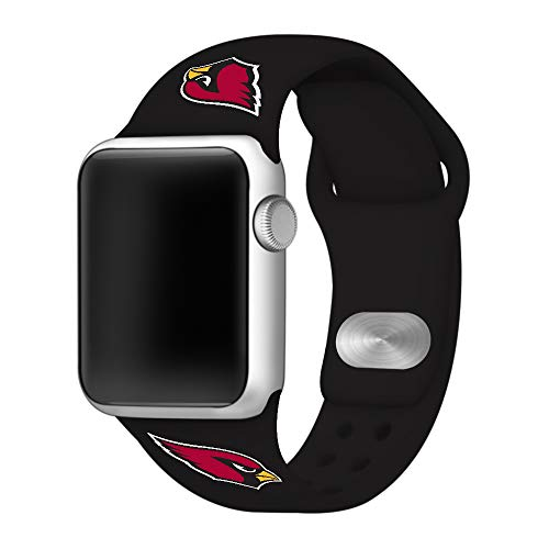 Game Time Arizona Cardinals Silicone Sport Band Compatible with Apple Watch -Band ONLY (42mm/44mm)