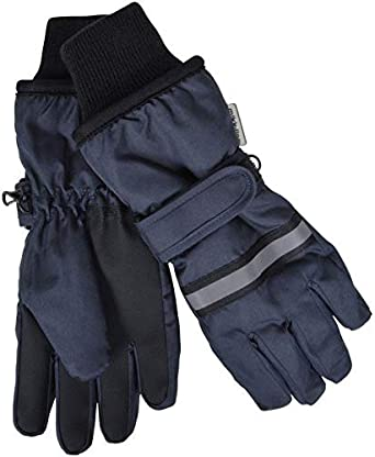 Outdoor Play Danish Design Boys Thinsulate Unisex Kids Ski Gloves Winter Sports Adjustable Strap, High Quality Water Resistant Thermal Fleece Lining