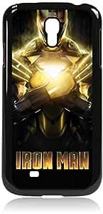 Iron Man -Gold -Hard Black Plastic Snap - On Case-Galaxy s4 i9500 - Great Quality!